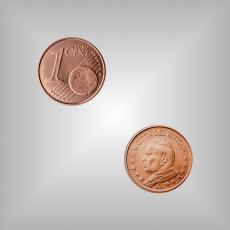 1 Cent Kursmünze Vatikan 2004