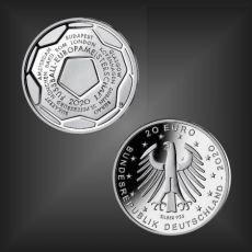 20 EURO Gedenkmünze Fussball-EM BRD 2021
