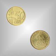50 Cent Kursmünze Monaco 2001