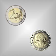 2 EURO Kursmünze Monaco 2001