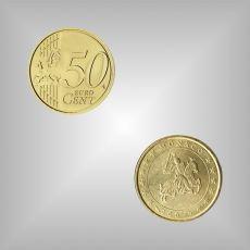 50 Cent Kursmünze Monaco 2003