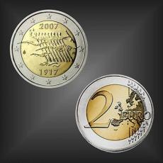 2 EURO 90 Jahre Unabhängigkeit Finnland 2007