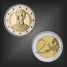 2 EURO Fürst Honoré V Monaco 2019