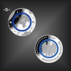 5 EURO Polymer Planet Erde BRD 2016 -D-