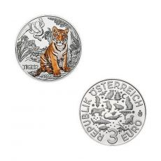 3 EURO Tier-Taler Der Tiger Österreich 2017