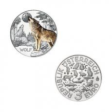 3 EURO Tier-Taler Der Wolf Österreich 2017