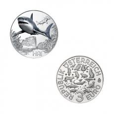 3 EURO Tier-Taler Der Hai Österreich 2018