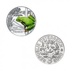 3 EURO Tier-Taler Der Frosch Österreich 2018
