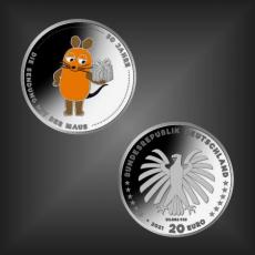 20 EURO 50 Jahre Sendung m. der Maus BRD 2021 PP
