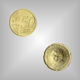 50 Cent Kursmünze Vatikan 2002