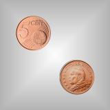 5 Cent Kursmünze Vatikan 2003