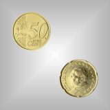 50 Cent Kursmünze Vatikan 2005