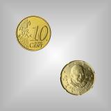 10 Cent Kursmünze Vatikan 2008