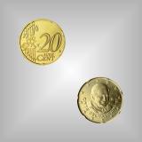 20 Cent Kursmünze Vatikan 2008