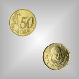 50 Cent Kursmünze Vatikan 2008