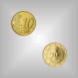 10 Cent Kursmünze Vatikan 2014