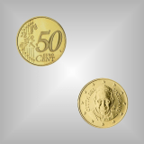 50 Cent Kursmünze Vatikan 2014