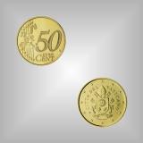 50 Cent Kursmünze Vatikan 2021
