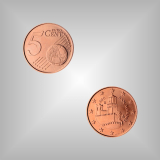 5 Cent Kursmünze San Marino 2005