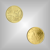 50 Cent Kursmünze San Marino 2004
