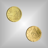 20 Cent Kursmünze San Marino 2008