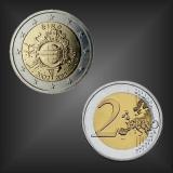 2 EURO 10 Jahre EURO Bargeld Irland 2012
