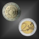 2 EURO 10 Jahre EURO Bargeld Estland 2012
