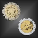 2 EURO Europaflagge Lettland 2015