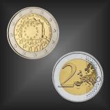 2 EURO Europaflagge Österreich 2015