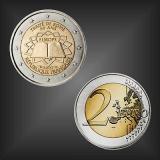 2 EURO Römische Verträge Frankreich 2007