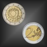 2 EURO Europaflagge Zypern 2015