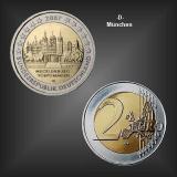 2 EURO Schloss Schwerin -D- BRD 2007