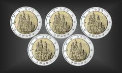 Satz 5 x 2 EURO Neuschwanstein BRD 2012
