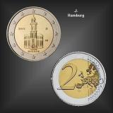 2 EURO Paulskirche Hessen -J- BRD 2015