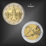 2 EURO Dresdner Zwinger -F- BRD 2016