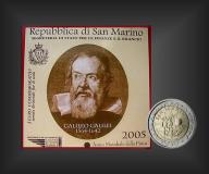 2 EURO Galileo Galilei San Marino 2005