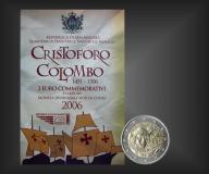 2 EURO Christoph Columbus San Marino 2006