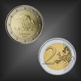 2 EURO Schwarzstorch Lettland 2015