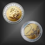2 EURO Henri + Adolphe Luxemburg 2005