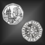 5 EURO 250. Geburtstag Mozart Österreich 2006