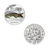 3 EURO Tier-Taler Krokodil Österreich 2017
