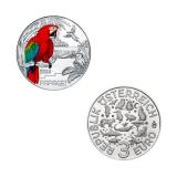 3 EURO Tier-Taler Papagei Österreich 2018