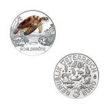3 EURO Tier-Taler Schildkröte Österreich 2019