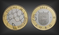 5 EURO Aland Finnland 2011