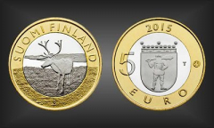 5 EURO Lappland Finnland 2015