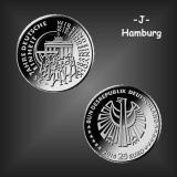 25 EURO Deutsche Einheit BRD 2015 -J-