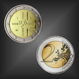 2 EURO 150 Jahre Rotes Kreuz Belgien 2014
