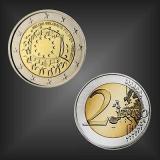 2 EURO Europaflagge Belgien 2015